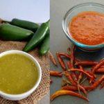 Salsa para carnitas: roja y verde
